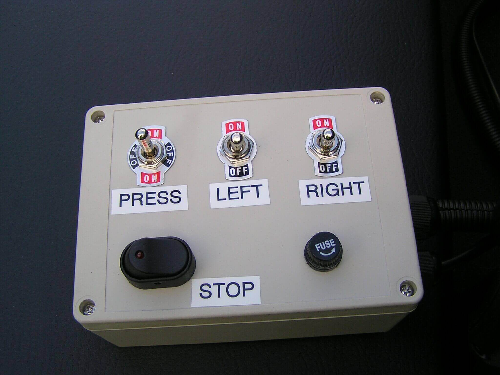 Electric controller 2 section with pressure adjust and master switch