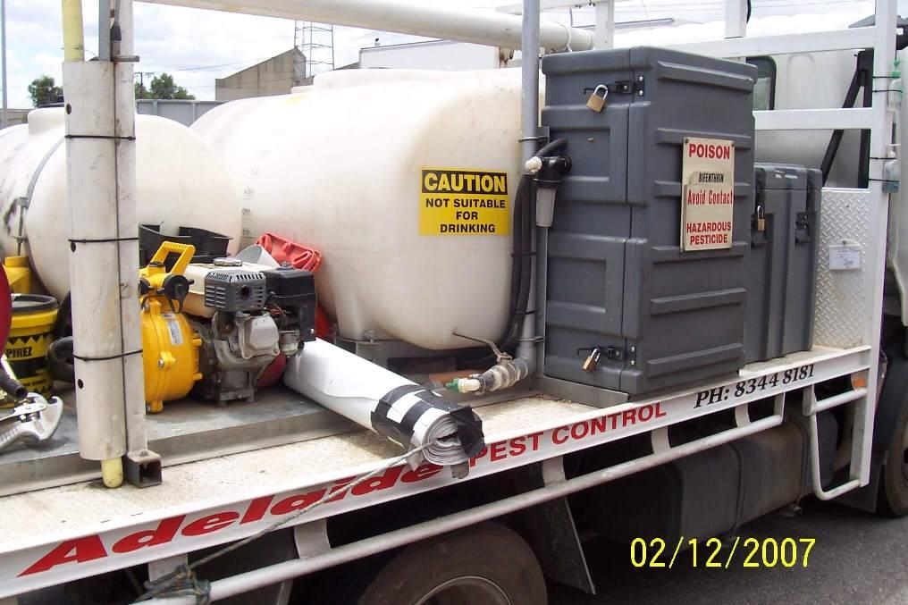 Adelaide Pest Control, Regency Park, Custom made 500 litre tank and frame