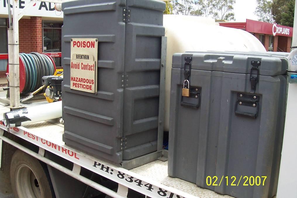 Custom tanks for Adelaide Pest Control