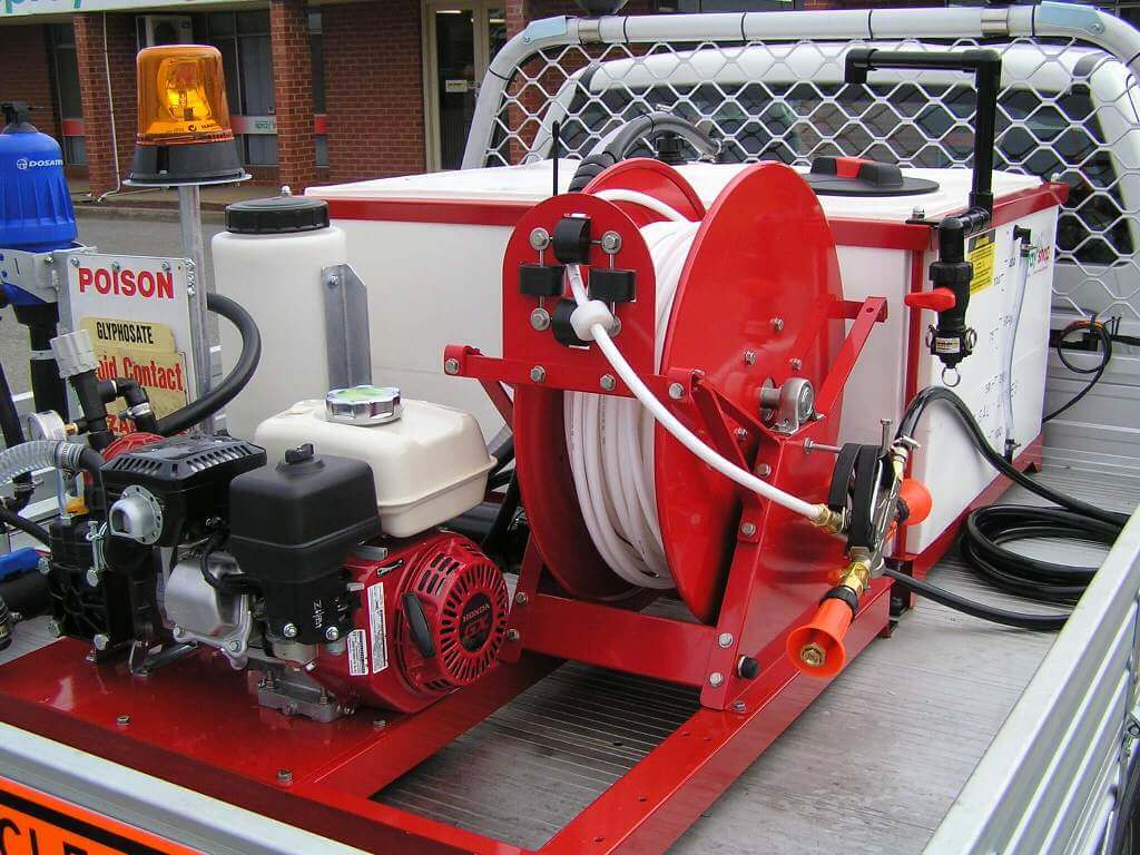 500 litre Quikspray unit with overhead fill built for City of Prospect