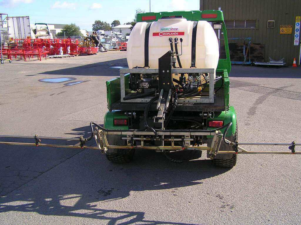 Custom fabrication 550 litre turf spayer for golf course with 4 meter boom and spring loaded height adjustment, for the City of Port Adelaide Enfield Golf Course