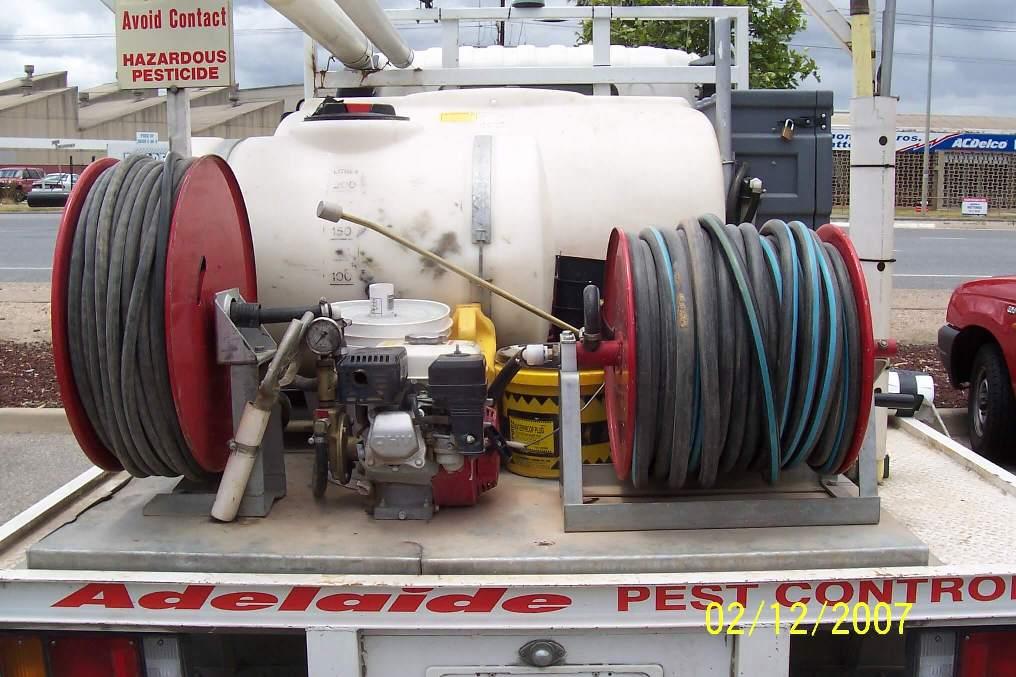 Adelaide Pest Control Custom made 500 litre tank and frame